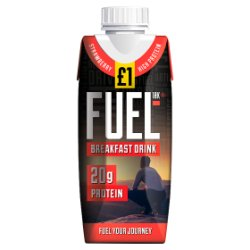 FUEL10K High Protein Strawberry Breakfast Drink 330ml £1 PMP