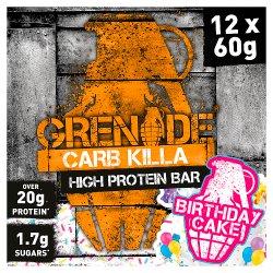 Grenade Carb Killa High Protein Bar Birthday Cake 12 x 60g