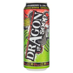Dragon Soop Strawberry & Lime Caffeinated Alcoholic Beverage 500ml