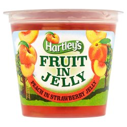 Hartley's Fruit in Jelly Peach in Strawberry Jelly 120g