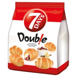 7 Days Double Mini Croissant with Cocoa & Vanilla Flavour Fillings 185g