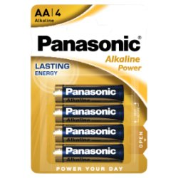 Panasonic Alkaline Power AA Batteries 4pk