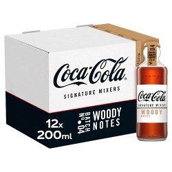 Coca-Cola Signature Mixers Woody 12 x 200ml Glass Bottles