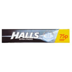 Halls Extra Strong Menthol Action Sweets 75p 33.5g