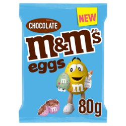M&M's Eggs Easter Chocolate Treat Bag 80g