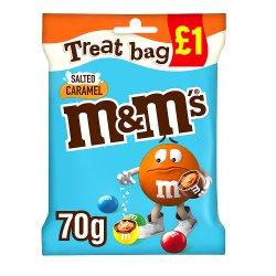 M&M's Salted Caramel Chocolate £1 PMP Treat Bag 70g