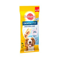 Pedigree Dentastix Daily Medium Dental Dog Chews 7 Stick 180g