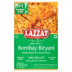 Lazzat Foods True Taste Spice Mix for Bombay Biryani 2 x 65g (130g)