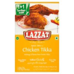 Lazzat Foods True Taste Spice Mix for Chicken Tikka 2 x 50g (100g)