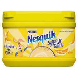 Nesquik® Banana Milkshake Powder 300g Tub