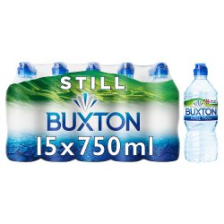 Buxton Still Natural Mineral Water Sports Cap 15x750ml