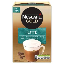 NESCAFÉ GOLD Latte Coffee, 8 Sachets x 19.5g