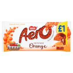 Nestlé® Aero® Orange Chocolate Sharing Bar 100g £1