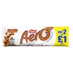 Aero Bubbly Milk Chocolate Bar 36g PMP 2 for £1