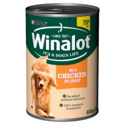WINALOT Classics Tinned Dog Food Chicken in Jelly 400g