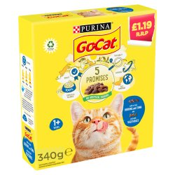 GO-CAT with Herring and Tuna mix with Vegetables Dry Cat Food 340g PMP