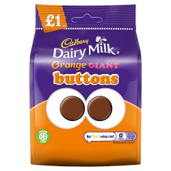 Cadbury Dairy Milk Orange Giant Buttons Chocolate Bag £1 95g