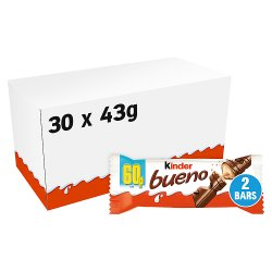 Kinder Bueno Milk Chocolate and Hazelnuts Single 2 Fingers x 21.5g (43g)