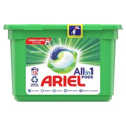 Ariel Allin1 Pods Washing Liquid Capsules Original 15 Washes