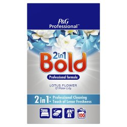 Bold 2in1 Professional Powder Detergent Lotus Flower & Water Lily 6.5kg 100 Washes