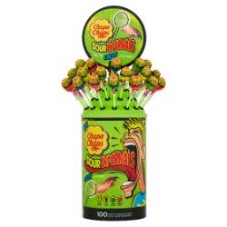 Chupa Chups Sour Infernals 100 Assorted Flavour Sour Lollipops 950g