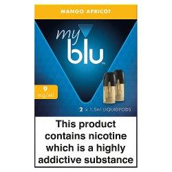 blu® myblu® Liquidpods Mango Apricot 9mg/ml 2 x 1.5ml