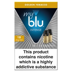 blu® myblu® Intense Liquidpods Golden Tobacco 18mg/ml 2 x 1.5ml