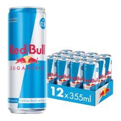 Red Bull Energy Drink, Sugar Free 355ml, PM £1.59 (12 Pack)