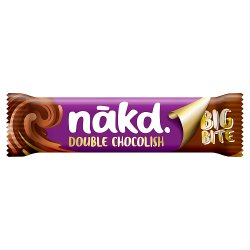 Nakd Big Bite Double Chocolish Fruit, Nut & Cocoa Bar 50g