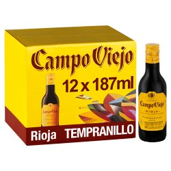 Campo Viejo Rioja Tempranillo Red Wine 12 x 187ml
