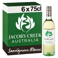 Jacob's Creek Sauvignon Blanc White Wine 6 x 75cl