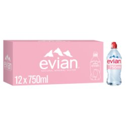 evian Still Natural Mineral Water 12 x 750ml