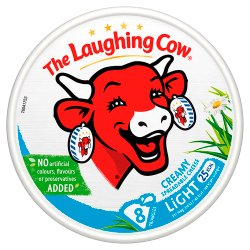 The Laughing Cow Light Spreadable Cheese 8 Triangles 140g