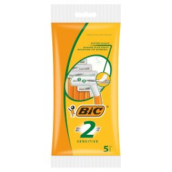 BIC 2 Sensitive Disposable Razors 5 Pack