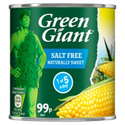 Green Giant Salt Free Sweetcorn 340g