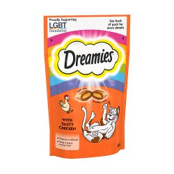 Dreamies Adult 1+ Cat Treats with Chicken 60g