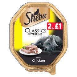 SHEBA Classics Cat Tray with Chicken in Terrine 85g