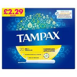 Tampax Regular Tampons Applicator 20X