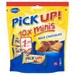 Bahlsen Pick Up! Minis Milk Chocolate 10 x 10.6g (106g)