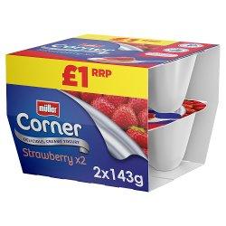 Müller Corner Strawberry Yogurt PMP £1 2 x 143g