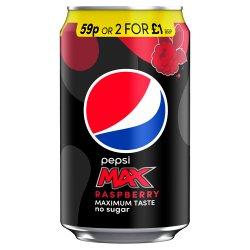 Pepsi Max Raspberry Cola 330ml