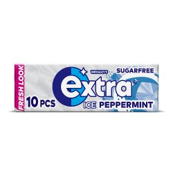 Wrigley's Extra Ice Peppermint Sugarfree Chewing Gum 10 Pieces 14g