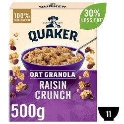 Quaker Oat Raisin Granola 500g