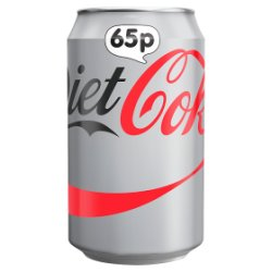 Diet Coke 330ml PMP 65p