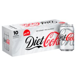 Diet Coke 10 x 330ml PMP £4.19