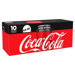 Coca-Cola Zero Sugar 10 x 330ml PM £4.35