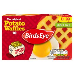 Birds Eye 10 Potato Waffles 567g