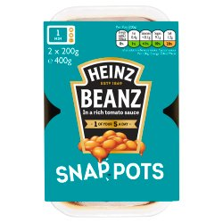 Heinz Beanz Snap Pots 2 x 200g (400g)
