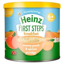 Heinz 4+ Months First Steps Creamy Peach & Apricot Porridge 240g