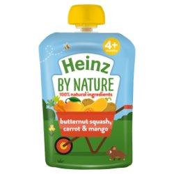 Heinz 4+ Months By Nature Butternut Squash, Carrot & Mango 100g